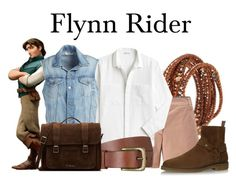 Flynn Rider by megan-vanwinkle on Polyvore featuring polyvore, fashion, style, Lacoste, Frame, Yves Saint Laurent, Dr. Martens, Chan Luu, Will Leather Goods, Disney and clothing