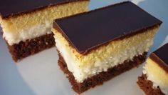 Dvoubarevný kokosový řez | NejRecept.cz Czech Recipes, Ethnic Recipes, Ital Food, Kolaci I Torte, Oreo Cupcakes, Hungarian Recipes, Pastry Cake, Sweet Cakes, Savoury Cake