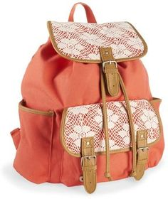 shopstyle.com: Floral Crochet Rucksack     superrr cutee back to school backpack