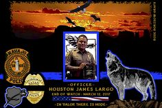 Jesse Delmar, Director of the Division of Public Safety for the Navajo Tribal Police in New Mexico sadly reports the death of Officer Houston Largo.  http://www.lawenforcementtoday.com/memoriam-officer-houston-largo/