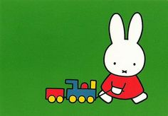 Miffy and a train! Cute Characters, Anime Characters, Book Cover Design, Book Design, Art & Drawing Toys, Kitty Crowther, Miffy, Animal Posters, Cool Animations