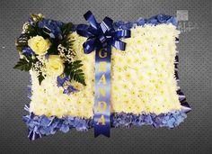 Funeral pillow www.azaleaflowers.co.uk