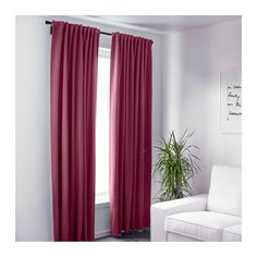 IKEA WERNA block-out curtains, 1 pair The curtains can be used on a curtain rod or a curtain track.