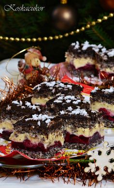 Meggyes-mákos kocka - lisztmentes Poppy Cake, Waffles, Paleo, Low Carb, Gluten Free, Pudding, Cooking Recipes, Sweets, Cookies