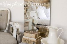 How to alter a mirror. Marianne at Songbird says: I altered a mirror, not a mirror frame. My bedroom mirror has Vintagy spots. Excellent Tutorial and very unique results! Decor, Furniture, Beautiful Mirrors, Small Bathroom Furniture, Upcycle Mirror, Vintage Mirrors, Mirror Decor, Buying A New Home, Mirror