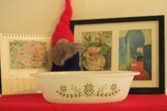 Vintage Green Daisy Glasbake Oval Casserole Dish 1 by NikkiRyann, $9.00