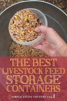 Choose the best livestock feed storage containers to keep your expensive feed fresh and free from mice. My best list of options to store animal feed.