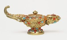 Genie lamp decorated with red and blue stones ;)
