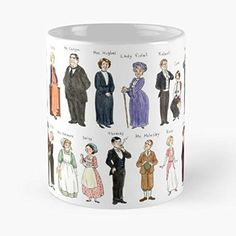 Downton Abbey Fanart Character Design Watercolours - Best Gift Mugs Caricature Mug Coffee For Gifts Cup Women Tumbler Cups 11 15 Oz Best Personalized Gifts Downton Abbey Costumes, Downton Abbey Movie, Cool Coffee Cups, Gifts For Fiance, Christmas Music, Christmas Ideas, Fan Art, Wine Gifts, How To Make Ornaments