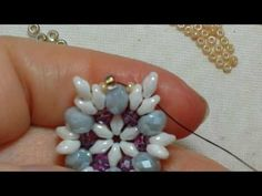 Sfera IMPERATRICE parte 1 - YouTube Bead Jewellery, Gemstone Jewelry, Diy Jewelry, Beaded Jewelry, Handmade Jewelry, Beaded Bead, Jewelry Making Tutorials, Beading Tutorials, Twin Beads