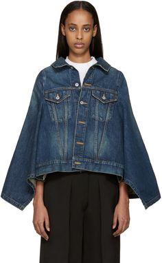Junya Watanabe - Indigo Denim Cape Jacket