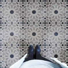 Our Moroccan tile stencils are fabulous for walls, backsplashes and of course for floors, instead of popular cement floor tiles. Our tile designs are easy to use and provide a big savings to costly alternatives of wallpaper and floor tiles. Stencil Diy, Stencil Painting, Stencil Designs, Tile Stencils, Stencil Patterns, Floor Patterns, Stenciling, Tile Patterns, Paint Designs
