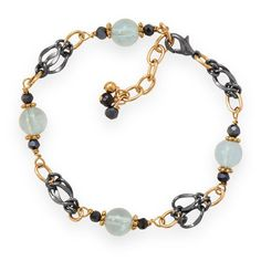 Two Tone Blue Crush Fashion Bracelet