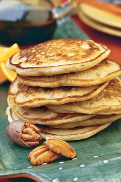 These warm, fluffy pancake recipes will give you a reason to jump out of bed in the morning. No matter how you like your homemade pancakes, we have a fluffy pancake recipe perfect for you. Pecan Pancakes, Homemade Pancakes, Pancakes Easy, Pancakes And Waffles, Brunch Recipes, Breakfast Recipes, Pancake Recipes, Breakfast Ideas, Waffle Recipes