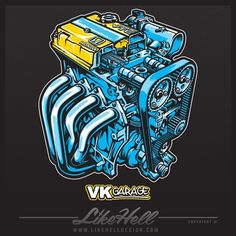 I was asked to draw up this exposed B-Series for Honda specialist VK Garage over in Holland. Based on some photography by @6two1 this was a super detailed piece that I had a huge amount of fun illustrating #likehelldesign #likehell #design #tocreateandinspire #art #graphics #graphicdesign #illustration #drawing #vector #automotiveapparel #automotiveart #honda #bseries #typer #b16 #b18 #vkgarage #hondanation #bestvector by likehelldesign