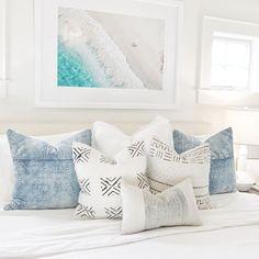 Beachy bedroom gray