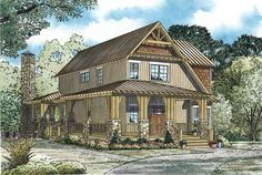 Rustic Retreat - 60535ND | 1st Floor Master Suite, Butler Walk-in Pantry, CAD Available, Cottage, Craftsman, Jack & Jill Bath, Loft, Narrow Lot, Northwest, PDF, Vacation, Wrap Around Porch | Architectural Designs