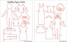 printable paper doll templates to color. Print on magnetic paper or glue to magnets. use a cookie sheet as base for travel or on the fridge.