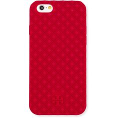 Tory Burch Marion Silicone iPhone 6 Case ($54) ❤ liked on Polyvore featuring accessories, tech accessories, phone cases, tech, carnation red, tory burch tech accessories and tory burch