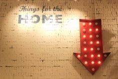 A vintage fairground style flashing arrow, leading you to all things for the home in our basement. #180Piccadilly