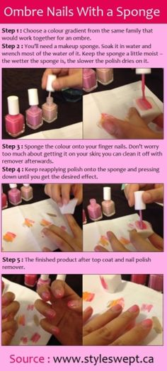 Ombre nails!!