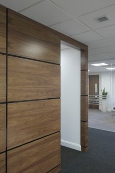 Artizo Walnut Veneer Panels With High Gloss Black Shadow Groove Moulding