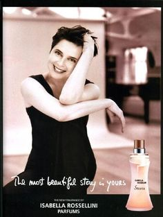 Isabella Rossellini Storia Fragrance 2004 (Various Campaigns)