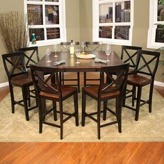 Astounding Counter height dining set with butterfly leaf