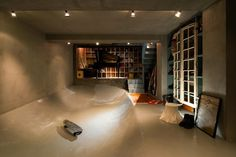 House in Kitasando with Built In Skate Bowl.  What!!!!!  That's crazy!!
