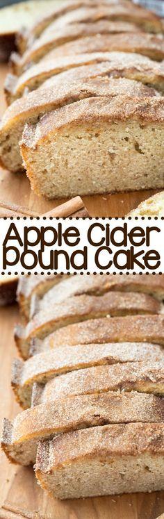 Apple Cider Pound Cake - an easy pound cake that tastes like an apple cider doughnut!