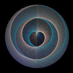 string art  UNITY OF TWO sacred geometry spiritual 3D art