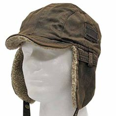 4287a1b58d9 Best PILOT TROOPER Brown Shell AVIATOR Faux Leather Hat USHANKA Trapper Men  and Women 7 1