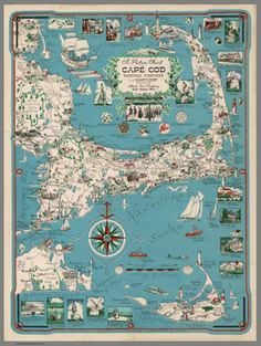 Picture Chart of Cape Cod, Martha's Vinyard and Nantucket (1955)