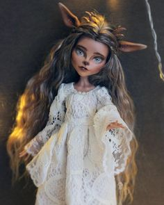 "856 Likes, 10 Comments - Luciana Romanskaya (@luciana_dolls) on Instagram: ""Silentia the Deer✨ Sold! Thank you ❤️ #monsterhighooak #monsterhigh #ooakmh #ooakmonsterhigh…"""