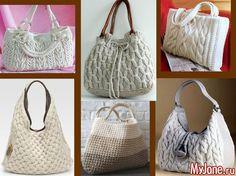 Вязаные сумки: стильные вещи своими руками - сумки, вязаные сумки, мода, рукоделие, стильные вещи