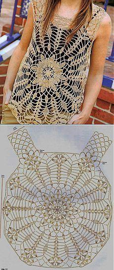 Crochet Top - Tutorial ❥ 4U hilariafina http://www.pinterest.com/hilariafina/ …