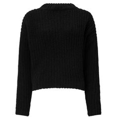 Miss Selfridge Black Chenille Cropped Knitted Jumper (646.075 IDR) ❤ liked on Polyvore featuring tops, sweaters, black, long sleeve jumper, long sleeve crop top, crop top, lace up sweater and cropped sweaters