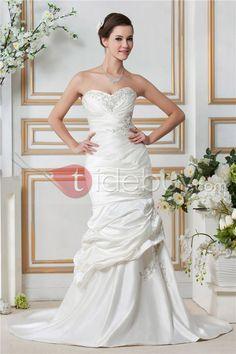 Amazing Sweeteheart Trumpet/Mermaid Chapel Train Embroidery Sandra's Wedding Dress