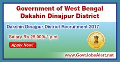 Dakshin Dinajpur District Recruitment 2017 - Hiring Technical Supervisor, Laboratory Technician and Psychologist Posts, Salary Rs.25,000/- : Apply Now !!!  The Dakshin Dinajpur District Government of West Bengal – Dakshin Dinajpur District Recruitment 2017 has released an official employment notification inviting interested and eligible candidates to apply for the positions of Technical Supervisor, Laboratory Technician and Psychologist. The eligible candidates may apply