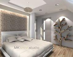 Sypialnia w stylu skandynawskim - Średnia sypialnia małżeńska, styl skandynawski - zdjęcie od MKsmartstudio