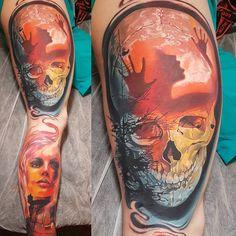 Skull tattoo by Piotr Olejnik