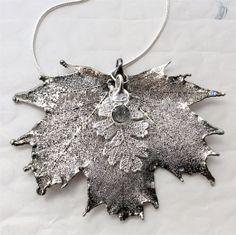 Real Leaves Jewelry custom design BLACK DIAMOND Maple by WoodSmith