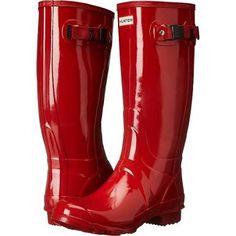 Hunter Huntress Gloss Women's Rain Boots Hunter Red : 9 M