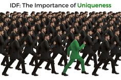 Inverse Document Frequency and the Importance of Uniqueness