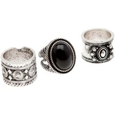 Set 3 anelli boho ($8.84) ❤ liked on Polyvore featuring jewelry, rings, accessories, anillos, gioielli, boho jewellery, boho rings, bohemian style jewelry, boho jewelry and boho chic jewelry