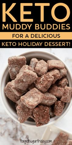 This Keto Puppy Chow (aka Muddy Buddies) copycat is just as good,. Elouise Rippin keto-dessert This Keto Puppy Chow (aka Muddy Buddies) copycat is just as good,. Informations About KETO - Delicious Keto M Low Carb Sweets, Low Carb Desserts, Low Carb Recipes, Keto Holiday, Holiday Desserts, Holiday Parties, Holiday Recipes, Keto Snacks, Snack Recipes