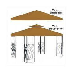 Gazebo Pergola Replacement Patio Gazebos Canopy Outdoor Metal Tent Garden Cover - n/a - Skrootz Home Stores - 12
