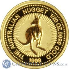 1/20 oz Australian Gold Kangaroo http://www.gainesvillecoins.com/