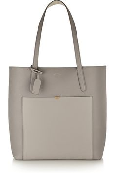 textured leather tote / smythson