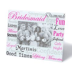 Bridesmaid Words Photo Frame | Icing
